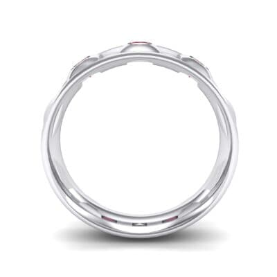 Tile Ruby Ring (0.33 CTW) Side View