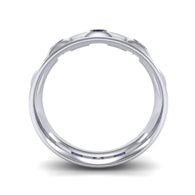 Tile Blue Sapphire Ring (0.33 CTW) Side View