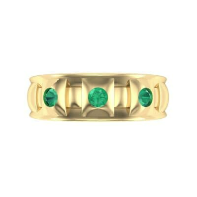 Tile Emerald Ring (0.33 CTW) Top Flat View