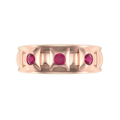 Tile Ruby Ring (0.33 CTW) Top Flat View