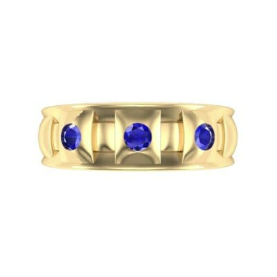 Tile Blue Sapphire Ring (0.33 CTW) Top Flat View