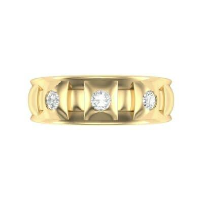 Tile Diamond Ring (0.33 CTW) Top Flat View