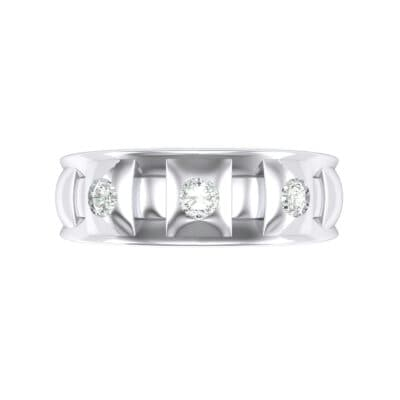 Tile Crystal Ring (0.33 CTW) Top Flat View