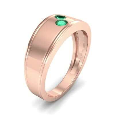 Two-Stone Emerald Ring (0.22 CTW) Perspective View