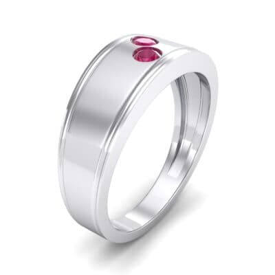 Two-Stone Ruby Ring (0.22 CTW) Perspective View
