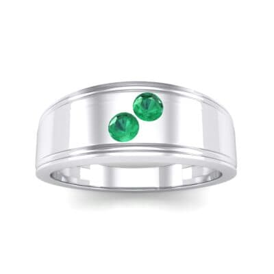 Two-Stone Emerald Ring (0.22 CTW) Top Dynamic View