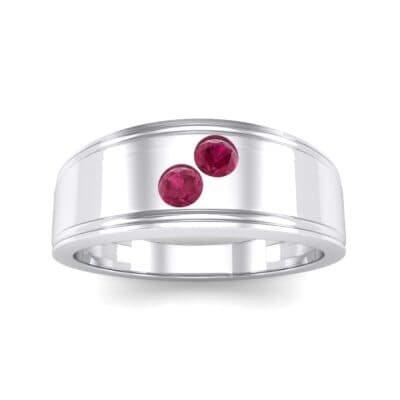 Two-Stone Ruby Ring (0.22 CTW) Top Dynamic View