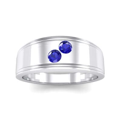 Two-Stone Blue Sapphire Ring (0.22 CTW) Top Dynamic View