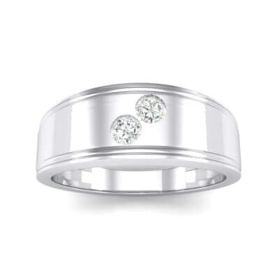 Two-Stone Crystal Ring (0.22 CTW) Top Dynamic View