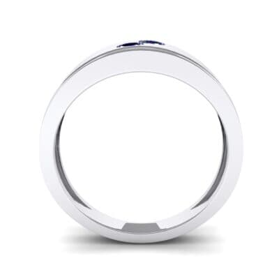 Two-Stone Blue Sapphire Ring (0.22 CTW) Side View