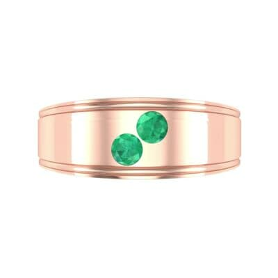 Two-Stone Emerald Ring (0.22 CTW) Top Flat View