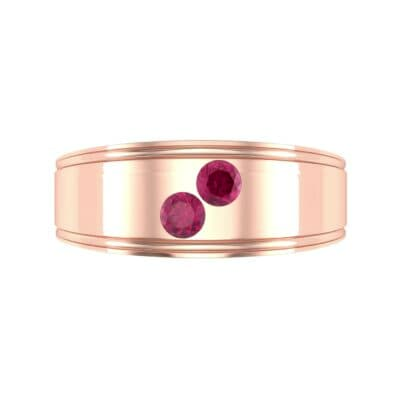 Two-Stone Ruby Ring (0.22 CTW) Top Flat View