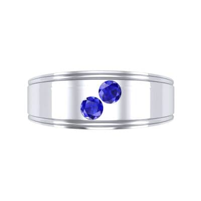 Two-Stone Blue Sapphire Ring (0.22 CTW) Top Flat View