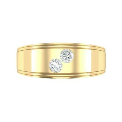Two-Stone Diamond Ring (0.22 CTW) Top Flat View