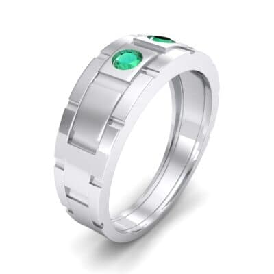 Link Emerald Ring (0.22 CTW) Perspective View