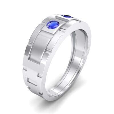 Link Blue Sapphire Ring (0.22 CTW) Perspective View