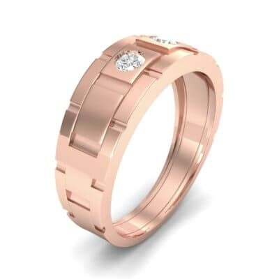 Link Diamond Ring (0.22 CTW) Perspective View