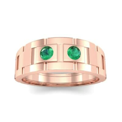 Link Emerald Ring (0.22 CTW) Top Dynamic View