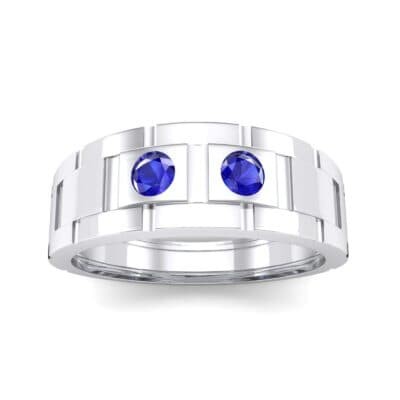 Link Blue Sapphire Ring (0.22 CTW) Top Dynamic View