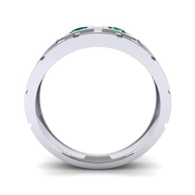Link Emerald Ring (0.22 CTW) Side View