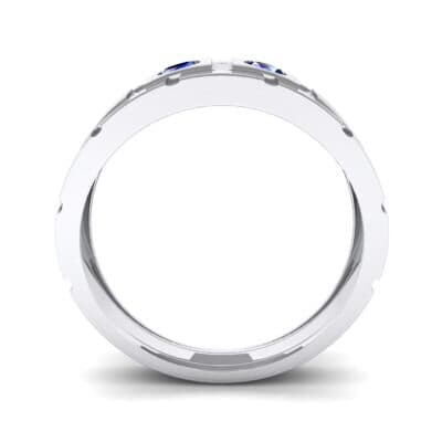 Link Blue Sapphire Ring (0.22 CTW) Side View