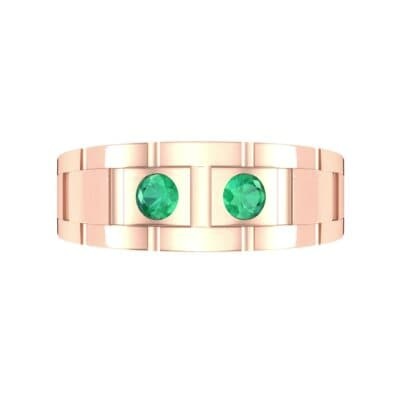Link Emerald Ring (0.22 CTW) Top Flat View