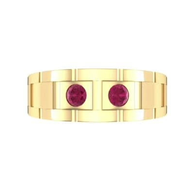Link Ruby Ring (0.22 CTW) Top Flat View