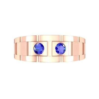 Link Blue Sapphire Ring (0.22 CTW) Top Flat View