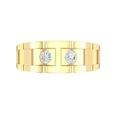 Link Diamond Ring (0.22 CTW) Top Flat View