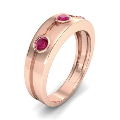 Three-Stone Channel Ruby Ring (0.33 CTW) Perspective View