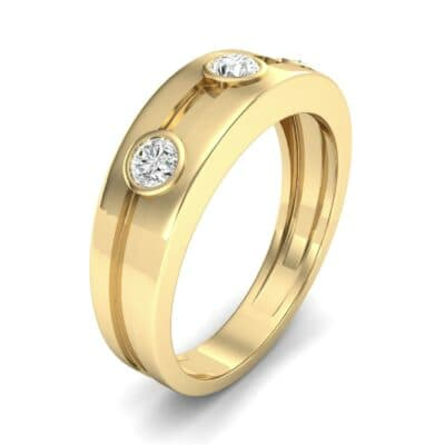 Three-Stone Channel Diamond Ring (0.33 CTW) Perspective View