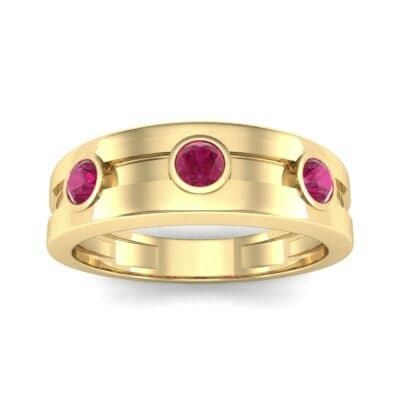 Three-Stone Channel Ruby Ring (0.33 CTW) Top Dynamic View