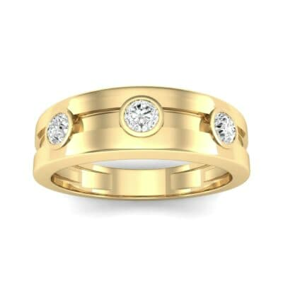Three-Stone Channel Diamond Ring (0.33 CTW) Top Dynamic View