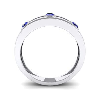 Three-Stone Channel Blue Sapphire Ring (0.33 CTW) Side View