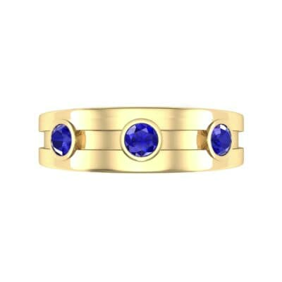 Three-Stone Channel Blue Sapphire Ring (0.33 CTW) Top Flat View
