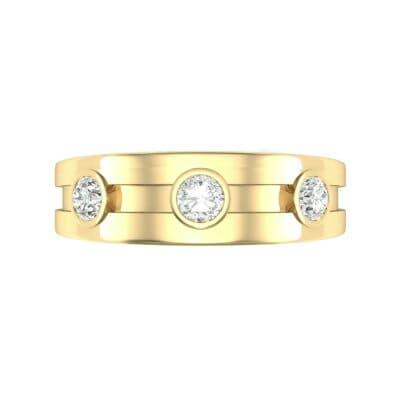 Three-Stone Channel Diamond Ring (0.33 CTW) Top Flat View