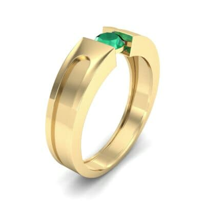 Force Solitaire Emerald Engagement Ring (0.36 CTW) Perspective View