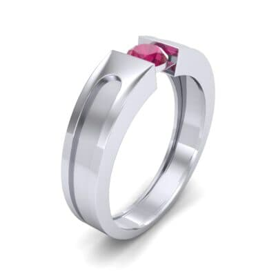 Force Solitaire Ruby Engagement Ring (0.36 CTW) Perspective View