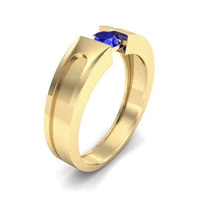 Force Solitaire Blue Sapphire Engagement Ring (0.36 CTW) Perspective View