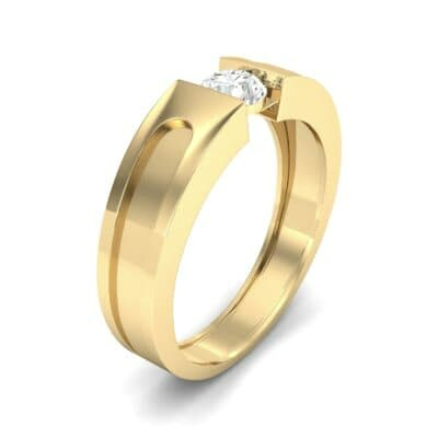 Force Solitaire Diamond Engagement Ring (0.36 CTW) Perspective View