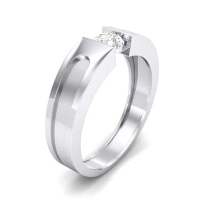 Force Solitaire Crystal Engagement Ring (0.36 CTW) Perspective View