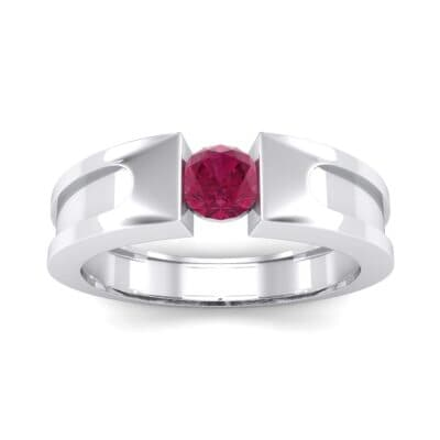 Force Solitaire Ruby Engagement Ring (0.36 CTW) Top Dynamic View