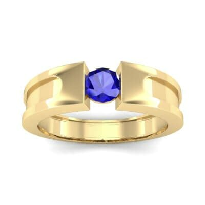 Force Solitaire Blue Sapphire Engagement Ring (0.36 CTW) Top Dynamic View