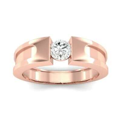 Force Solitaire Diamond Engagement Ring (0.36 CTW) Top Dynamic View