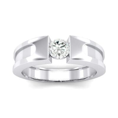Force Solitaire Crystal Engagement Ring (0.36 CTW) Top Dynamic View