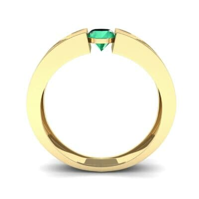 Force Solitaire Emerald Engagement Ring (0.36 CTW) Side View
