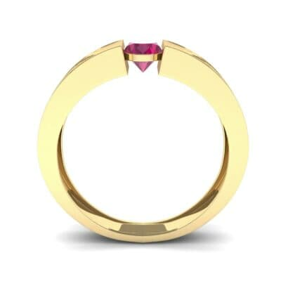 Force Solitaire Ruby Engagement Ring (0.36 CTW) Side View