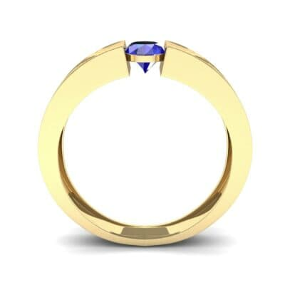 Force Solitaire Blue Sapphire Engagement Ring (0.36 CTW) Side View