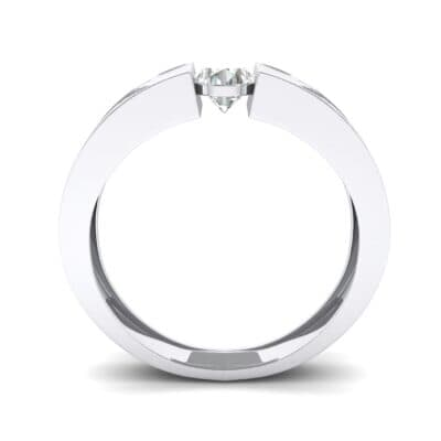 Force Solitaire Crystal Engagement Ring (0.36 CTW) Side View