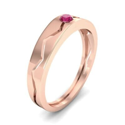 Vista Solitaire Ruby Ring (0.1 CTW) Perspective View